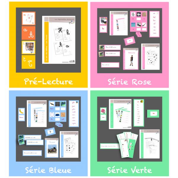 Kit de lecture Montessori complet CURSIF