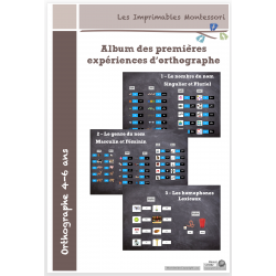 Kit d'orthographe Montessori 4-6 ans SCRIPT