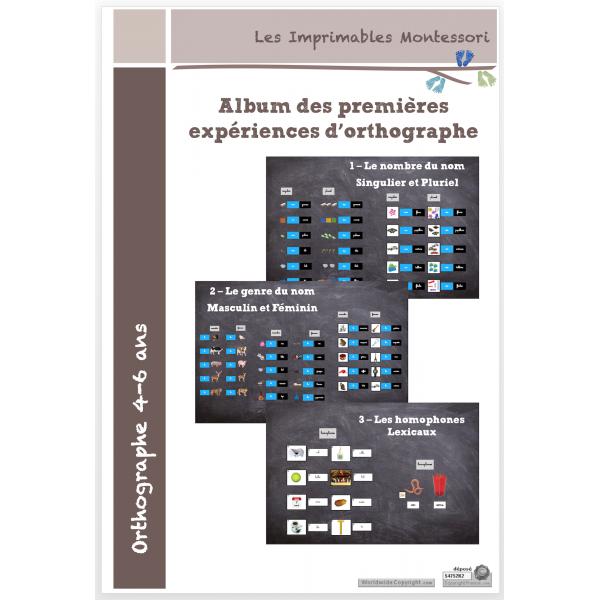 Kit d'orthographe Montessori 4-7 ans SCRIPT