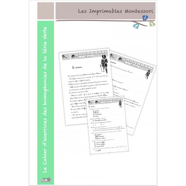 Série Verte : Exercices Homophonies CURSIF