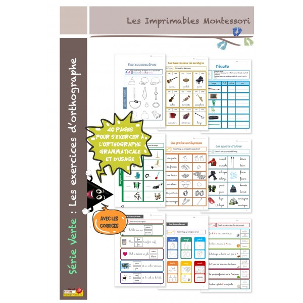 Orthographe Montessori 5-7 ans Cahier d'exercices