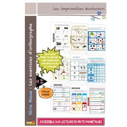 Orthographe Montessori 4-5 ans Cahier d'exercices