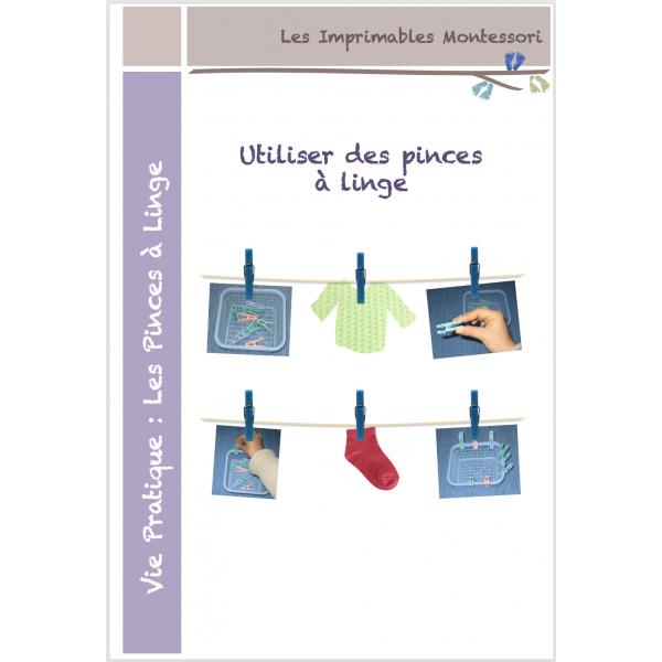 Vie pratique Montessori : Les pinces à linge