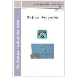 Vie pratique Montessori : Enfiler des perles