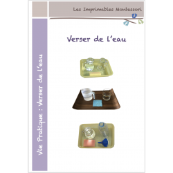 Vie pratique Montessori : Verser de l'eau