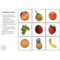 Cartes de Nomenclature Montessori : Les Fruits