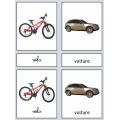 Cartes de Nomenclature Montessori : Les Transports
