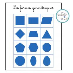 Cartes Montessori : Les formes géométriques