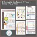 Grammaire et Orthographe Montessori 4/7ans SCRIPT