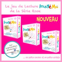 Série Rose Montessori : Jeu de lecture Imagémo