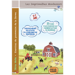 Grammaire Montessori 5-7 ans Exercices de la Ferme
