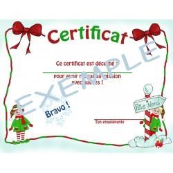 Certificat Noël