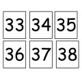 Atelier représentation des nombres 20 à 50