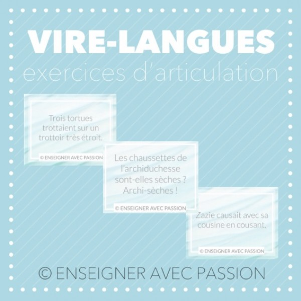 Exercices d'articulation (vire-langues)