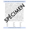 Mots cachés - liste orthographiques (1ère année)