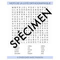 Mots cachés - liste orthographiques (3e année)