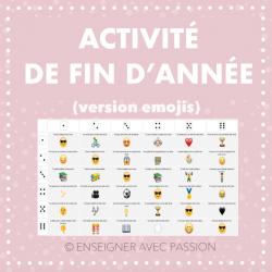 Activité de fin d'année (version emojis)