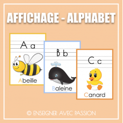 Affichage - Alphabet