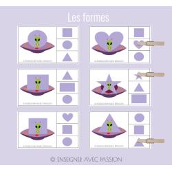 Cartes à tâche - Les formes
