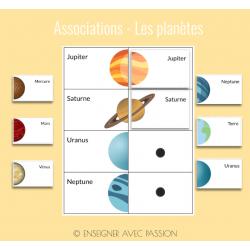 Associations - Les planètes