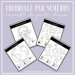 Coloriage par numéros (Espace)