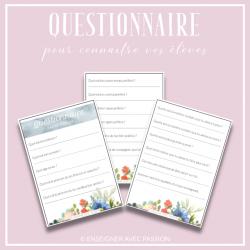 Questionnaire - Rentrée scolaire