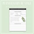 Planification de stage (préscolaire)