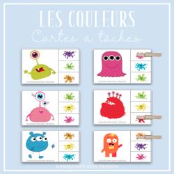 Cartes à tâche - Les couleurs