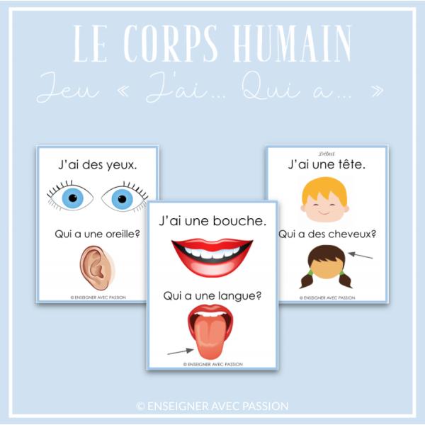 Corps humain - J'ai... Qui a...