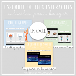 Ensemble jeux interactifs - 1er cycle