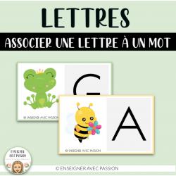 Conscience phonologique - Lettres