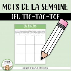 Tic-Tac-Vocabulaire