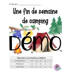 Une fin de semaine de camping (Résoudre 3e cycle)