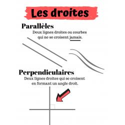 Les lignes parallèles et perpendiculaires