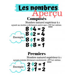Affiche (composés, premiers, pairs, impairs)