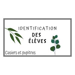 Identification des élèves (thématique plantes)