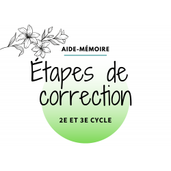Étapes de correction