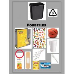 Affiches recyclage et poubelles