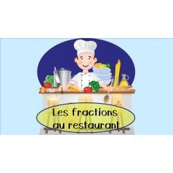 Les fractions au restaurant