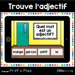 Trouve l'adjectif CARTES BOOM Learning