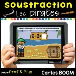 Soustraction 1 à 10 Les pirates Cartes Boom