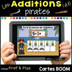Additions 1 à 10 Les pirates CARTES BOOM