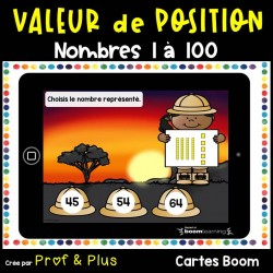 Valeur de position 1 à 100 - Safari Cartes BOOM