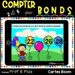 Bonds de 2 et de 5 - Nombres 0 à 50 Cartes BOOM