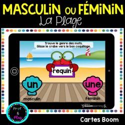 Le genre masculin ou féminin? La plage Cartes BOOM
