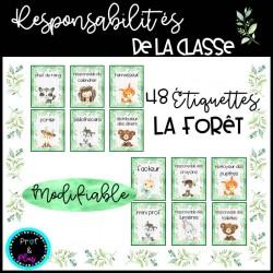 Responsabilités de la classe|Modifiable - La forêt
