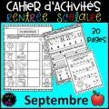 Cahier d'activités-Rentrée scolaire/Septembre