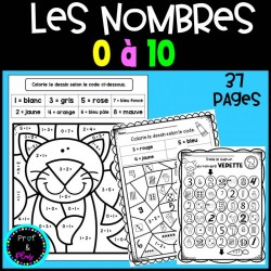 Cahier de nombres 0 à 10 - Rentrée scolaire