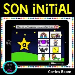 Son initial - Cartes BOOM