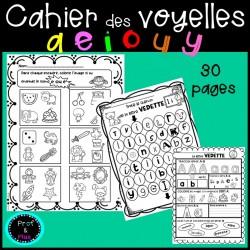 Cahier des voyelles de l'alphabet
